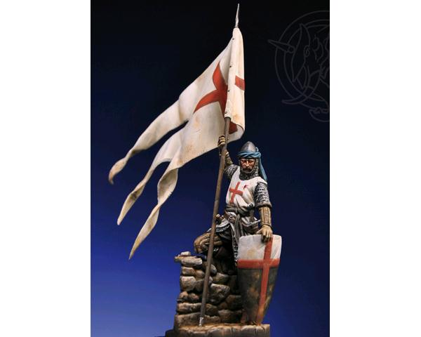 ROMEO MODELS: 54 mm. ; crusader standard bearer XII cent. - Elite series