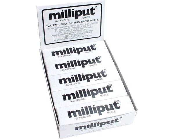 MILLIPUT: WHITE TWO PART EPOXY PUTTY (113 gr.)