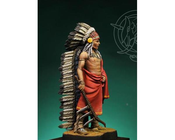 ROMEO MODELS: 54 mm. ; Indian Chief 19th century