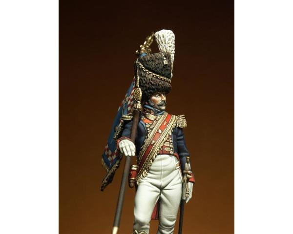 ROMEO MODELS: 54 mm. ; Grenadier of the Royal Guard Standard Bearer Officer - K.o.N