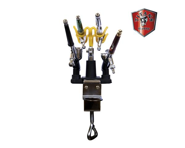TITANS HOBBY: Airbrush Holder for 4 airbrushes with clamp and bracket for air regulator