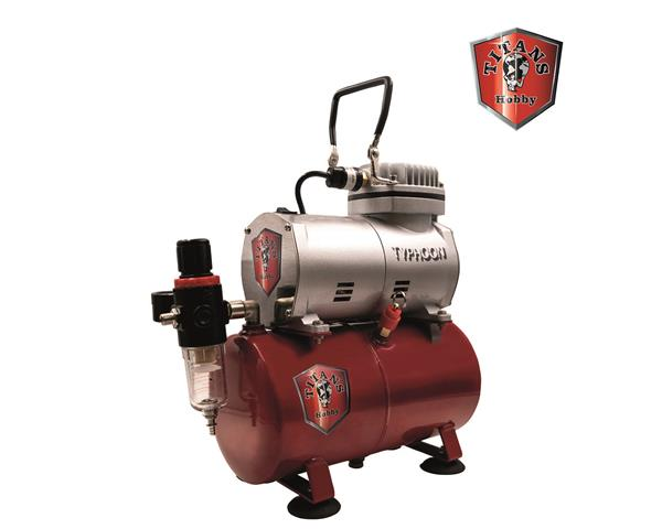 TITANS HOBBY:  Typhoon Air Compressor Piston Type, 1/6hp - 220-240V 50Hz with air tank 3lt.
