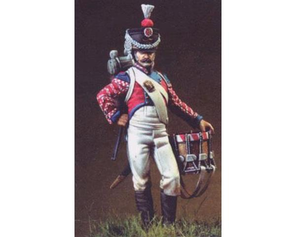 ROMEO MODELS: 54 mm. ; Kingdom of Naples, 6th Regt. Rifles' Drummer - 1815