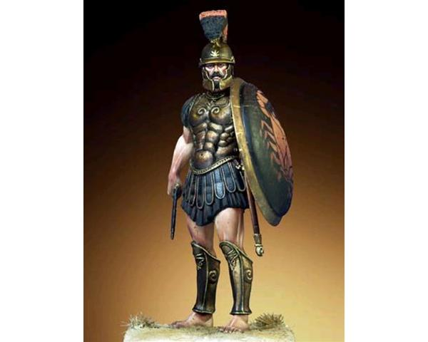 "ROMEO MODELS: 54 mm. ; Greek ""Siceliota"" Hoplite - V Century B.C. with a Thracian helme"