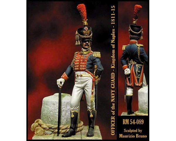 ROMEO MODELS: 54 mm. ; Officer of the Navy Guard - Naple's Kingdom 1811-15
