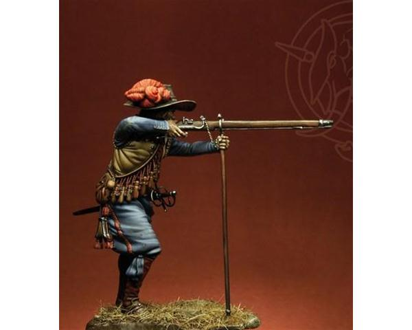 ROMEO MODELS: 75 mm. ; French Musketeer at the beginning of the 30 Years War