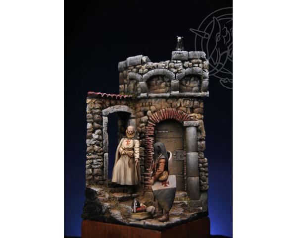 ROMEO MODELS: 54 mm. ; Provincial Commander of the Templar Order (Receptor) with Servant