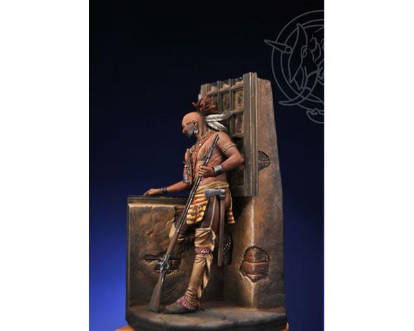 ROMEO MODELS: 75 mm. ; Iroquois Warrior in a Casle - Mid XVIII Century - Luxury kit
